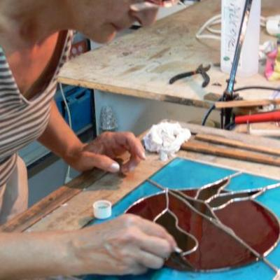 stage vitrail atelier